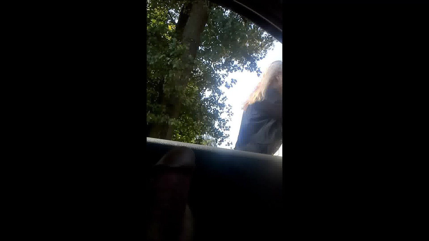 dick flash in car for polish skinny milf two times