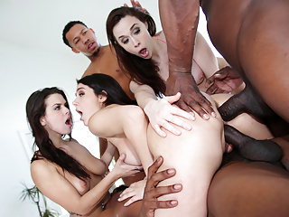 Interracial Double Penetration Orgy vid: Interracial Orgy With Chanel, Keisha and Valentina