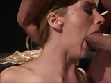 blond slut tittyfucked and facialed