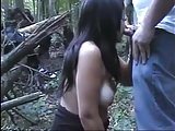 Blowbang in the woods
