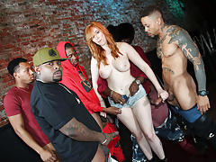 Interracial Orgy With Busty Bartender Lauren Phillips