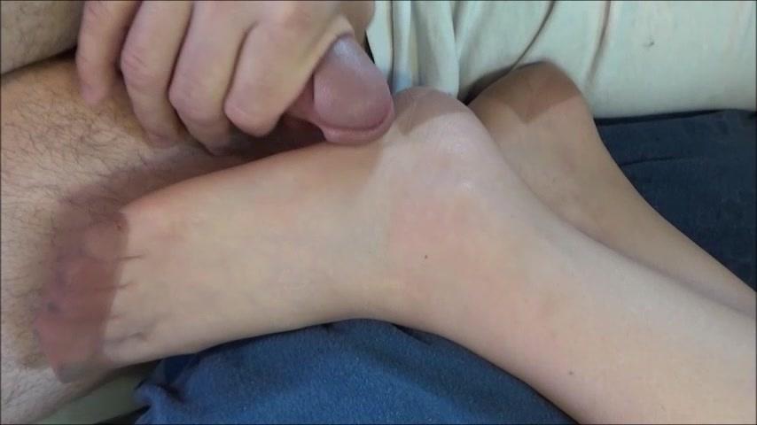 Vintage Beige RHT Stocking Footjob