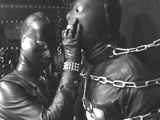 Femdom Latex Bondage video: The Leather Domina - Leather Fetish - Total Leather Bondage