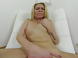 180 degree pussy masturbation from blonde babe VR
