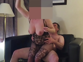 Thick hotwife with triple Ds rides older guy hard