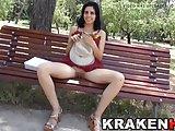 Krakenhot - Cute teen in a porn casting in public