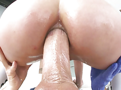 True deepthroat rimjob and anal princess