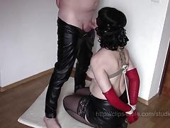 13 x amateur bondage blowjob