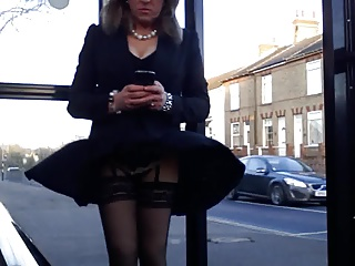 quick outing windy upskirt stockings