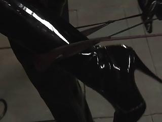 Blowjobs Milfs video: Latex loving mistress pleasures masked man