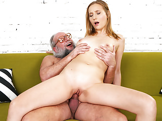 Teens Oldyoung porno: Grandpa and her much younger girlfriend