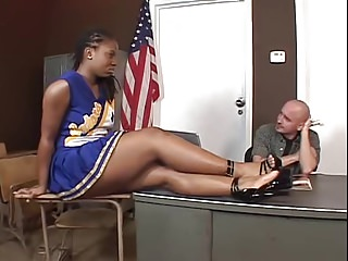 Hottest Ebony Cheerleader Fucking