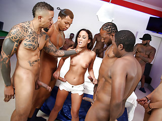 Gangbang Interracial Big Cock video: Interracial Gangbang With Anal Slut Amara Romani