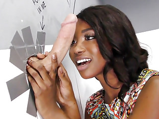 Black And Ebony Interracial Glory Holes video: Ebony Skyler Nicole Tries Anal With Huge Cock at Gloryhole