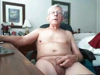 slim grandpa stroke on cam