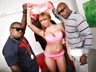 Group Sex Gangbang Interracial video: Busty BBC Slut Maya Hills Loves Anal