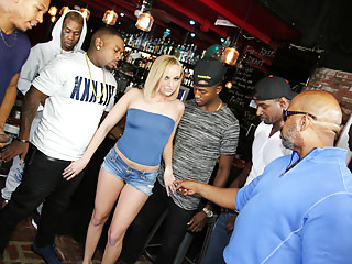 Interracial Gangbang Blacks On Blondes video: Kate England Tries Gangbang And Anal With BBCs