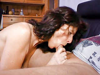 German Amateur Brunettes video: XXX OMAS - Mature German broad enjoys a dirty hard fucking