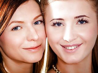 Lesbians Brunettes video: Hot Lesbians Aria Logan and Arian
