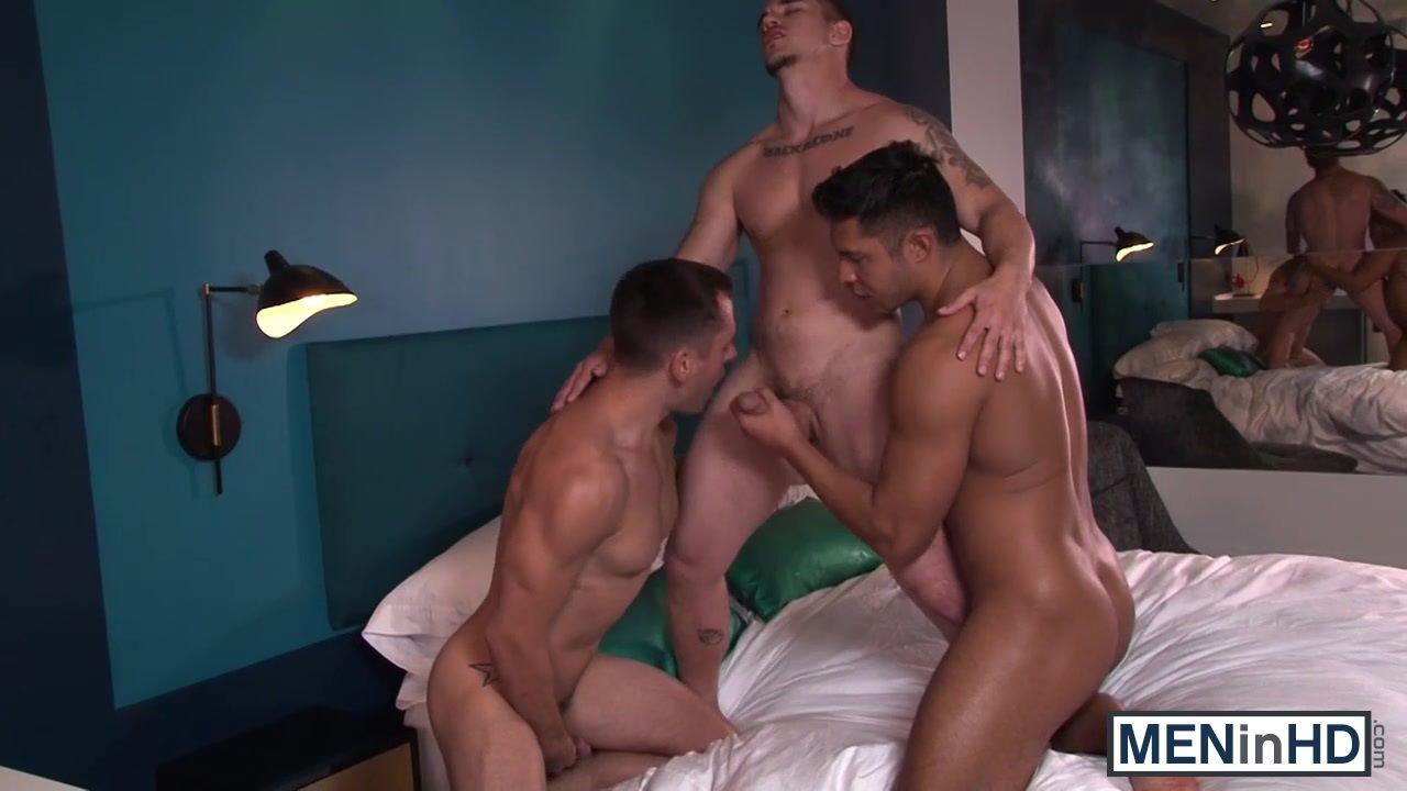 Adam, Brennet and Seth love threesome sex