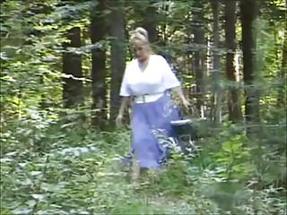 Masturbation Big Boobs Outdoor video: In the forest