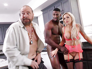 Hardcore Cuckold Big Cock vid: Mom, Put It In My Ass! - Nina Elle & Angel Smalls