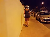 upskirt walking in tight dress 01