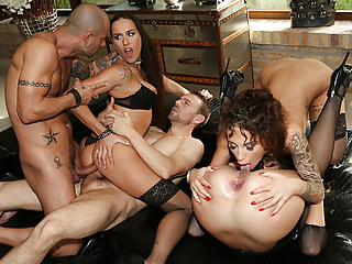Group Sex Hardcore Big Cock video: Rocco's hard academy