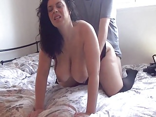 Milfs Big Boobs Big Natural Tits video: Busty mif fucking on the bed