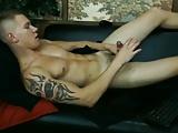 Horny naked guy masturbating on cam