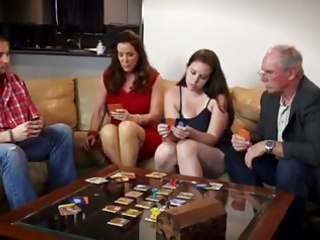 Lesbians Mom xxx: card game night