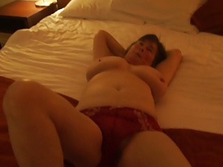 Irish MILF shows off her red panties and pussy