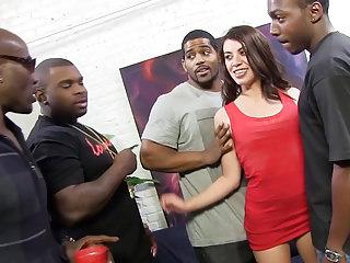 Gangbang Interracial Double Penetration video: Anal Slut Tiffany Doll Loves DP Gangbang And Big Black Cock