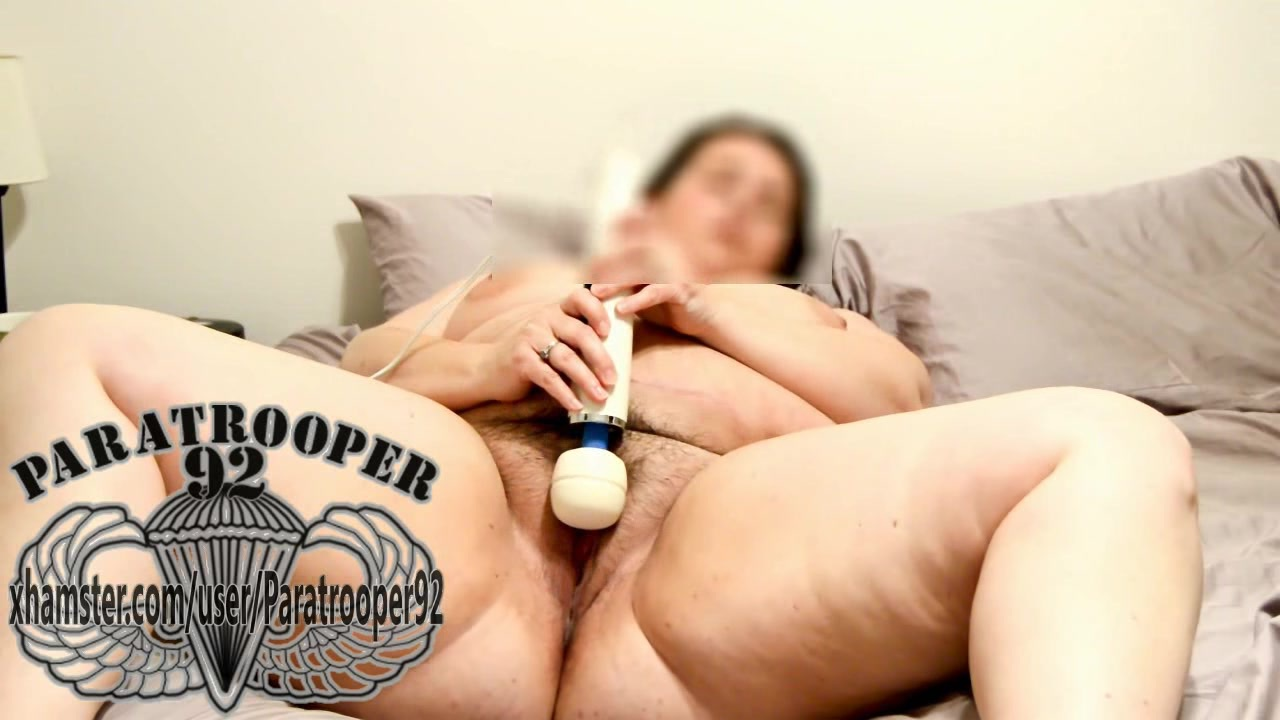 Magic wand orgasm madness with cock cage pussy open wide 10