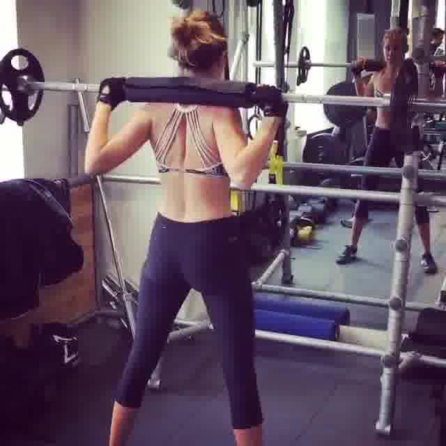 Millie at gym