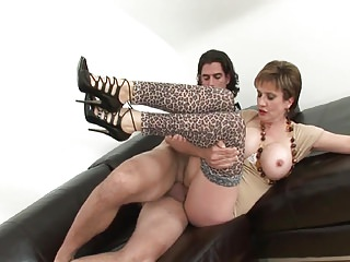 Stockings High Heels Pantyhose video: British lady and student