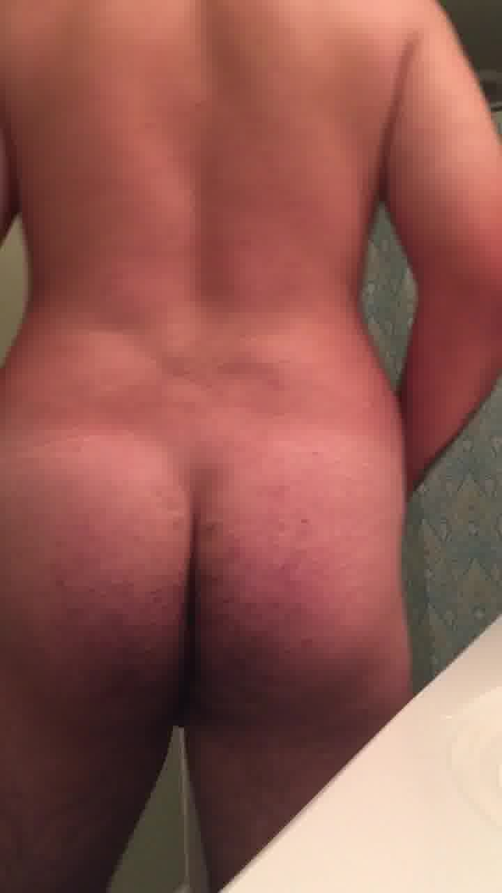 Close up of soft cock chubby ass