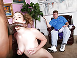 Sammy Grand Fucks Huge Black Cock While Her Dad Watches