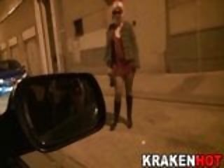 Bdsm Outdoor Homemade video: Montse Swinger in a x video of Street Hookers of Krakenhot