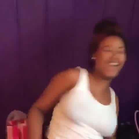 big busty ebony teen shaking tits