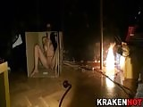 Krakenhot -  public nudity and submission with big tits girl