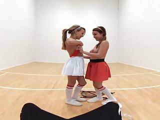 Pov Sports Virtual Reality video: 360 degree Wet Lesbian Practice - VR