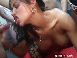 Pervers Cum Orgy Group Sex video: Cum Orgy Pervers - Tekohas and Mariska - P1 ------------