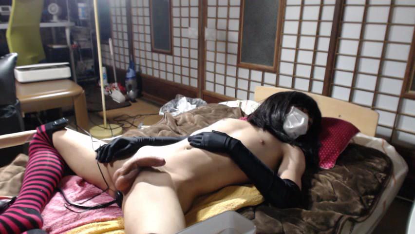 Nippon Crossdresser onanii Japan cumshot at 9:25