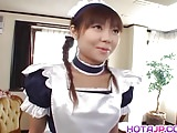Naughty Natsumi is a hot Asian maid getting into cosplay sex