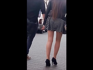 Hidden Cams Voyeur High Heels video: #13 Girl with sexy legs in mini skirt and high heels