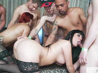 Interracial Italian Orgy video: CASTING ALLA ITALIANA - Hot Interracial Italian orgy casting
