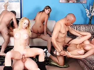 Group Sex Blondes Hardcore video: Group Orgy