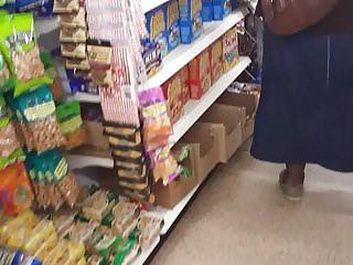 Black bbw granny upskirt