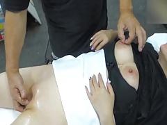 Japanese Amateur Work top Massage ?